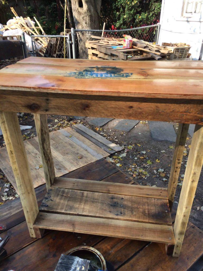 110 table en palette  table de chevet palette odu